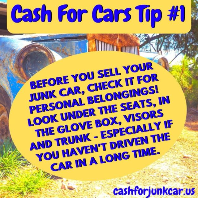 Cash For Cars Tip Template