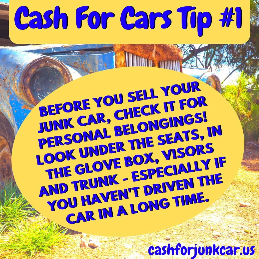 Cash For Cars Tip Template - Junk Car Tips
