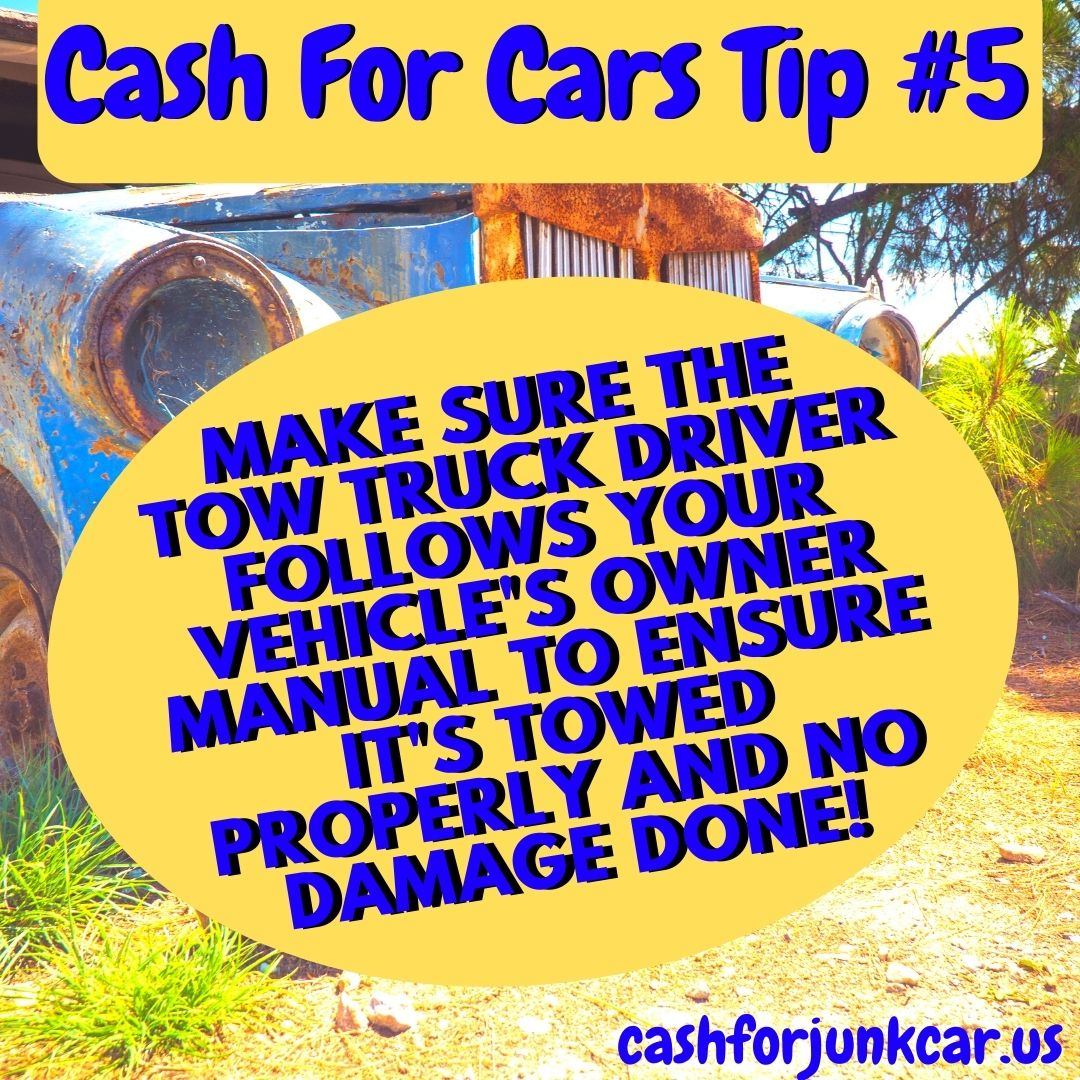 Berwyn Cash For Cars Tip 5 - Berwyn Towing Tips